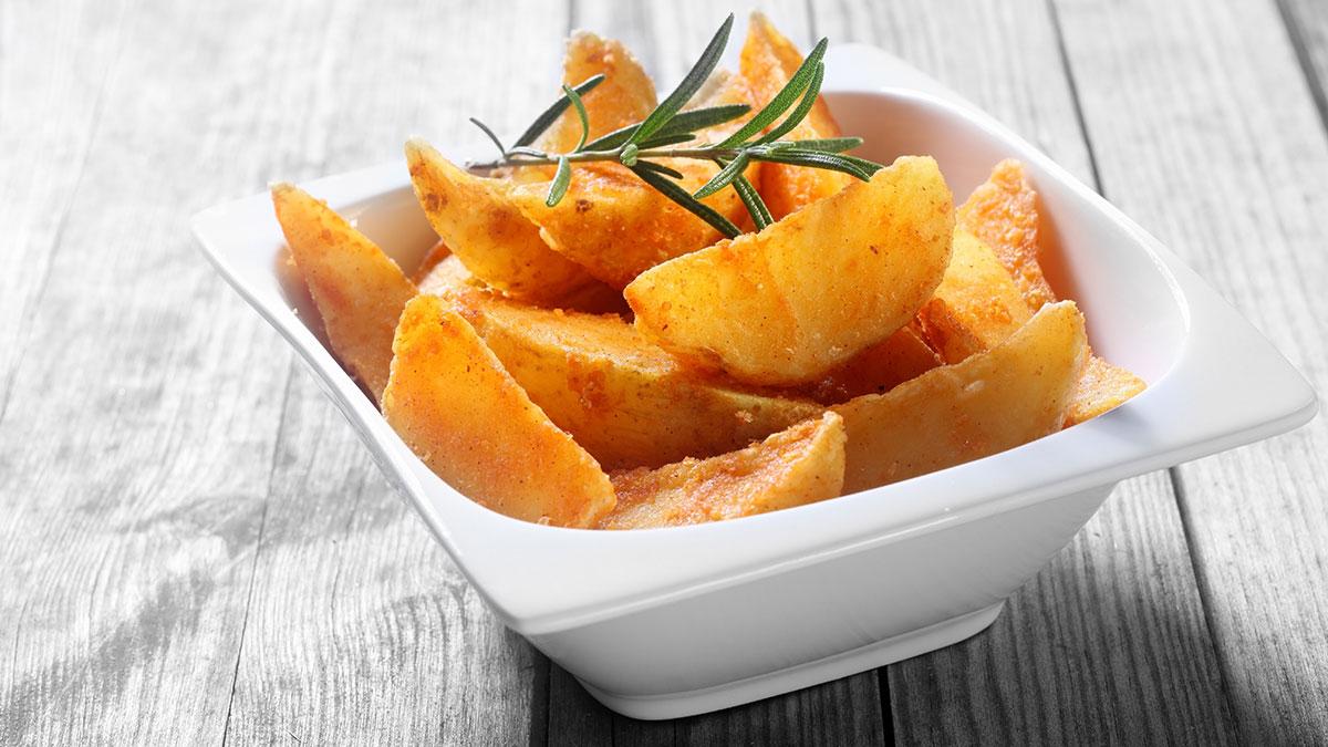 Τηγανητές πατάτες με λιγότερες θερμίδες