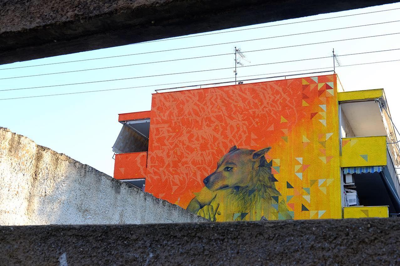 Εντυπωσιακή τοιχογραφία αφιερωμένη στα αδέσποτα ζώα