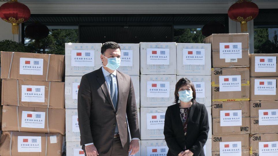 Κορωνοϊός – Kίνηση αλληλεγγύης: H Κίνα παρέδωσε 50.000 μάσκες στην Ελλάδα