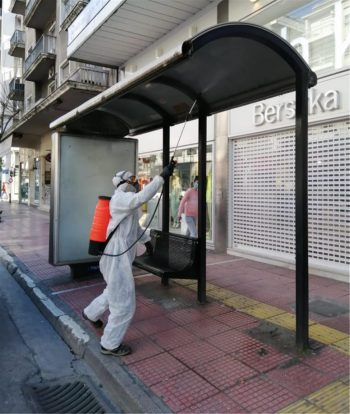 Κορωνοϊός: Καθημερινή απολύμανση σε 750 στάσεις λεωφορείων και τρόλεϊ από τον Δήμο Αθηναίων