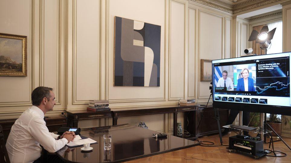 Μητσοτάκης στο Bloomberg: Δεν θα υπάρξει δεύτερη έξαρση κορωνοϊού στην Ελλάδα το καλοκαίρι