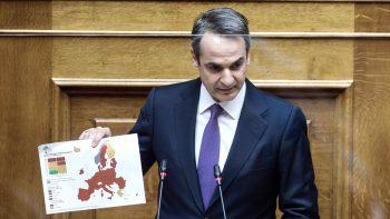 Μητσοτάκης: Παραμένει για δέκα μέρες στα 300 ευρώ το πρόστιμο