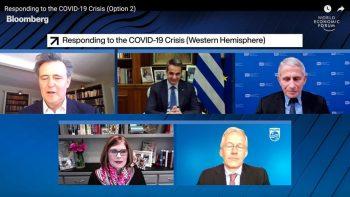 Νταβός: Κυριάκος Μητσοτάκης και Άντονι Φάουτσι συζήτησαν για την πανδημία (φωτογραφίες)